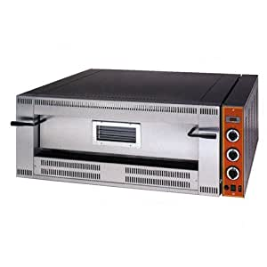Profesional Gas Acero Inoxidable Pizza Horno 24,5kW 920mm