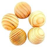 Hanperal 100 Pcs Fragrant Moth Balls Cedar Wood Protection Camphor Insect Control