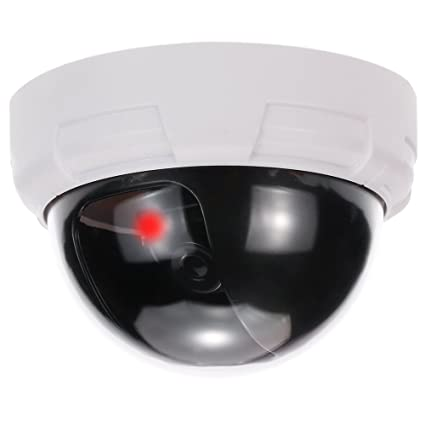 KKmoon Cámara Simulada Falsa, Camara Domo de Vigilancia, con Luz LED Intermitente para CCTV