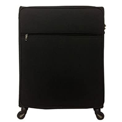 f1aa838fe6 Amazon | ソフトキャリー ケース 4輪 L キャリーバック 大型 一週間 無料預入最大サイズ 71cm 約96L (00028) (L-00028,  ブラック) | A Performer | スーツケース