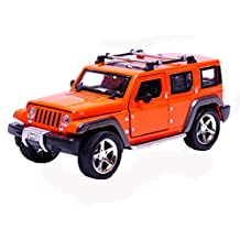 Children's Toys JEEP Ultimate Alloyed And Plated Car Models, Orange (1:32 Scale)
