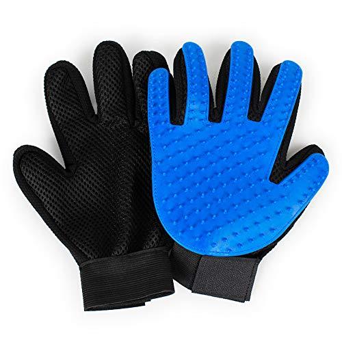SAPPSEN Pet Grooming Glove Brush Gentle Deshedding Hair Remover Dog Cat Mitt Fur Massage Gloves 1 Pair