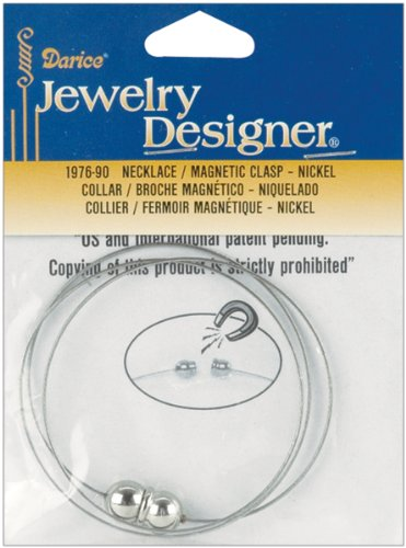 Darice Clasps - Darice Nickel Add-A-Bead Necklace with Magnetic Clasp