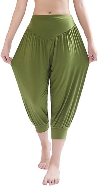 AvaCostume Modal Cotton Soft Yoga Sports Dance Harem Capri Pants
