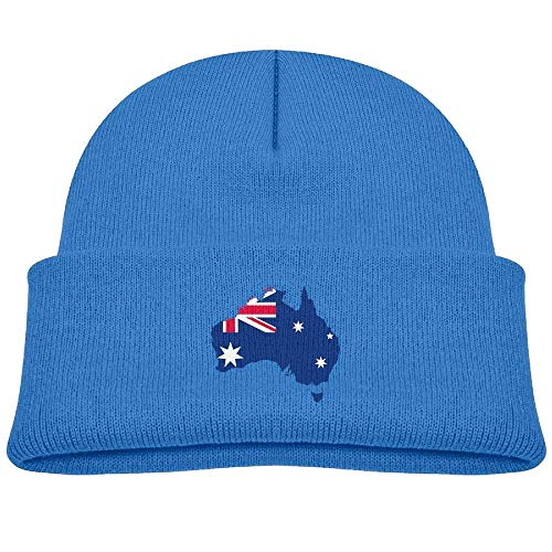 - chwevc Fashion Australia-Flag-Map Printed Toddlers Baby Winter Hat Beanie RoyalBlue