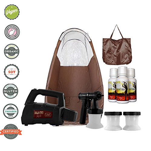 Maxi-Mist Lite Plus HVLP Sunless Spray Tanning KIT Tent Machine Airbrush Tan Maximist (Airbrush Tanning System)