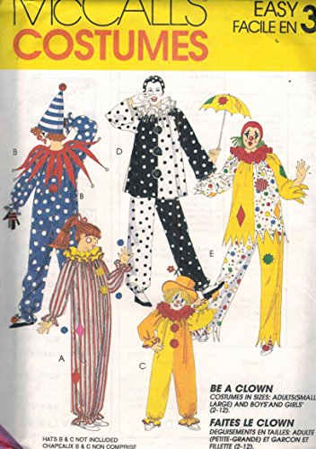 7850 McCalls Sewing Pattern UNCUT Adult Halloween Costume Clowns Size Large