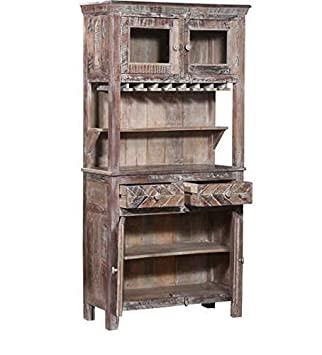 Ringabell Libation Solid Wood Bar Cabinet (Multi Colour Finish)