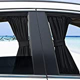 Sywan 2pcs Car Side Window Curtain Sunshades Drapes Foldable Curtain