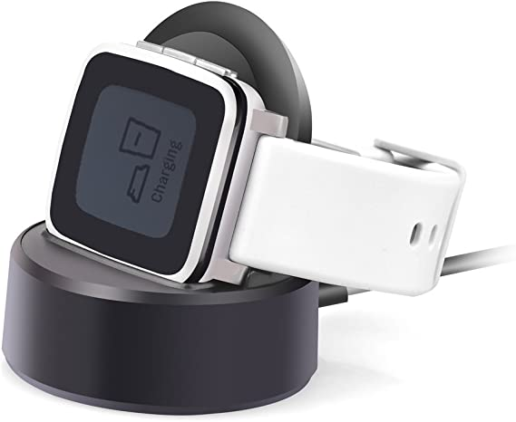 Pebble Time Charger,Pebble Time Steel Cable Charger Charging Stand,Itian Charging Dock Station Cradle Holder Charging Cable for Pebble Time,Pebble ...