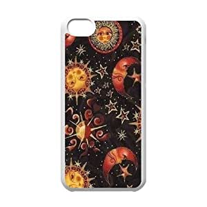 LJF phone case Sun Moon Pattern DIY Cover Case for iphone 4/4s,personalized phone case ygtg543184