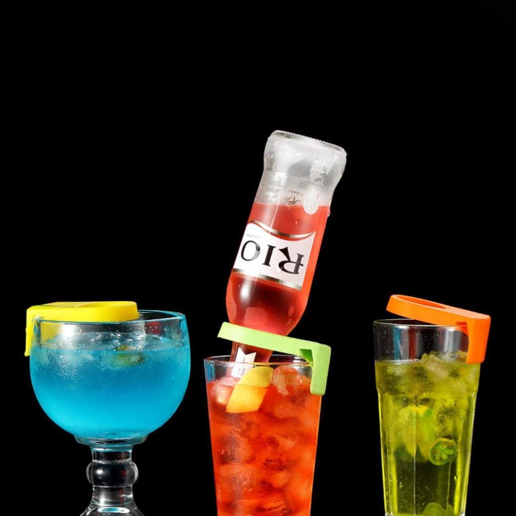 Color Aleatorio UPKOCH 12 Piezas Clips de Bebida Bar Cerveza Botella Hebilla C/óctel Complemento Copa de Vino Titular de Clip para Vasos de Copa Goleta