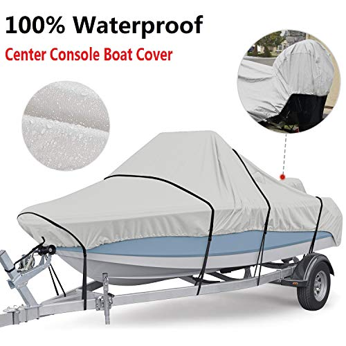 RVMasking100% Waterproof 800D Center Console Boat Cover (Best Waterproof Boat Cover)