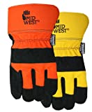 Midwest Gloves and Gear 7751THP02-L-AZ-6 Suede Cowhide with Thinsulate Work Glove, Large, Orange with Yellow, 2-Pack