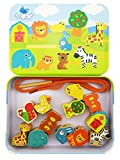 Jumbo Lacing & Stringing Wooden Beads Animals with