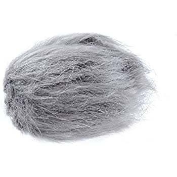 """Movo WS1 Furry Outdoor Microphone Windscreen Muff for Small Compact Microphones up to 2.5"""" X 40mm (L x D) for the Zoom H1, Apogee MiC and More (Light Gray)"""