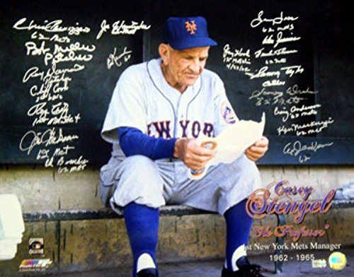 Mlb Signature Collectibles (1962 INAUGURAL SEASON NEW YORK METS AUTOGRAPHED 16X20 PHOTO WITH 18 SIGNATURES MLB HOLO STOCK #14468)
