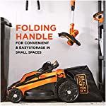 BLACK+DECKER Lawn Mower, Corded, 13 Amp, 20-Inch (BEMW213) 14 Push mower comes with 13 Amp motor to power through tall grass Electric mower can adjust height with 6 settings for precise cutting specifications Push lawn mower comes with easy Fold handle for convenient storage when not in use