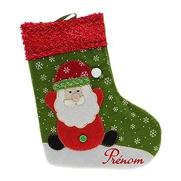 26ba2a0e9a72a Botte Chaussette de Noël décoration Sapin avec Prénom Personnalisé - Père  Noël