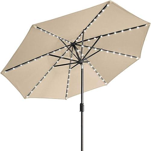 EliteShade Sunbrella Solar Umbrellas 9ft Market Umbrella