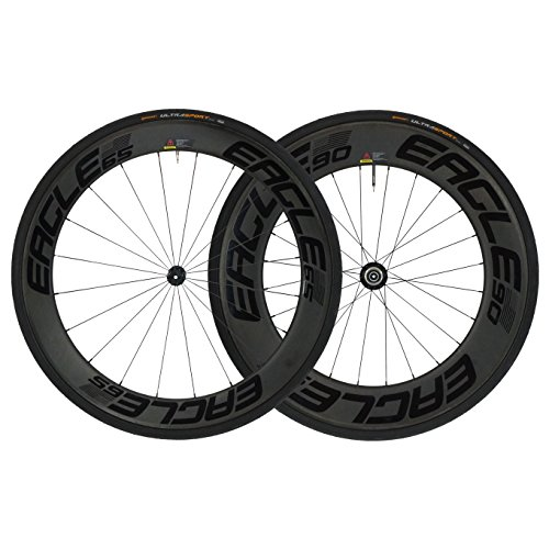 Zipp Wheel Front 808 (Eagle Lightweight Carbon Fiber Clincher Wheelset in Black for Cycling - Eagle 280 Hubs - Free Conti Tires (Eagle 280 Premium HUB, 1st Ed. Eagle 65/90 Carbon Clincher WHEELSET))