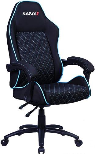 KARXAS PC Gaming Chair Office Computer Game Racing Chair Ergonomic High Back Adjustable Recliner Swivel Rocker