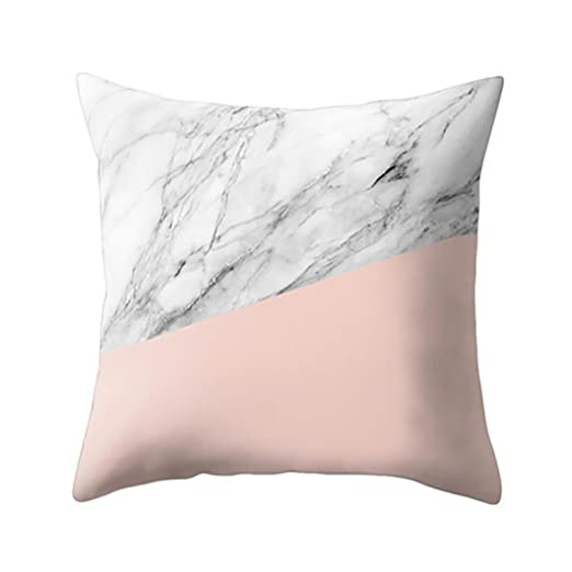 hlhn geométrico textura de mármol funda de almohada ...