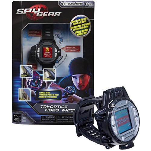 Spin Master Spy Gear Special Ops Series Electronic Device : TRI-OPTICS VIDEO WATCH with 3 Camera Views (Standard, Wide and Zoom) Plus Motion Activated Feature