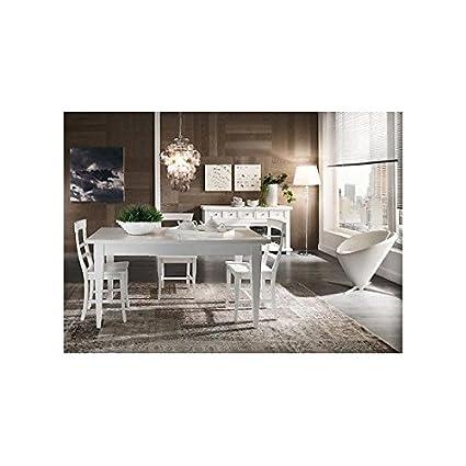 Tisch L 140 ausziehbar Küche Design Country Modern weiß ...