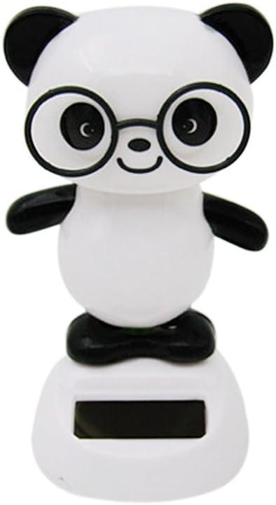 Danse Panda Mignon Jouet Mod/èle L/énergie Solaire Jouet Bobble Maison Voiture D/écoration Cadeau Anniversaire