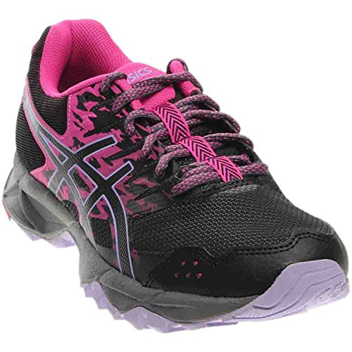 ASICS Women's Gel-Sonoma 3 Trail Runner, Pink Glow/Black/Lavender, 8 M US