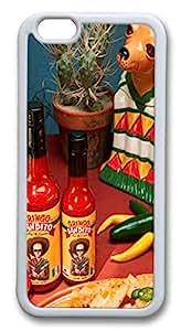 iphone 6 plus 5.5inch Case Bandito Hot Sauce TPU Custom iphone 6 plus 5.5inch Case Cover Whtie