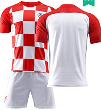e2ee7c3d1a6 LISIMKE Soccer Team 2018 19 Croatia Home Mens Replica Jersey Jersey Shorts  Kid Youth Replica