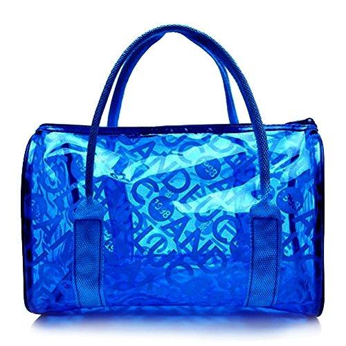 Trasparenti Borsa Pvc Trousse Caldo Sacchetto Impermeabili Ragazze Blu Trucco Rosa Organizzatore Spiaggia Donne Moda Della Del U5dqffw4