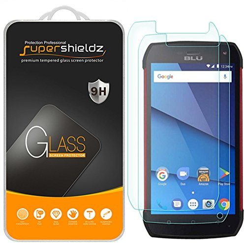[2-Pack] Supershieldz for BLU Tank Xtreme Pro Tempered Glass Screen Protector, Anti-Scratch, Bubble Free, Lifetime Replacement Warranty