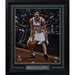 Autographed Ricky Rubio Photo - Framed 16x20 - PSA/DNA Certified - Autographed.