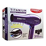 Red by Kiss Titanium 2300 Detangler Pik Hair Blow Dryer