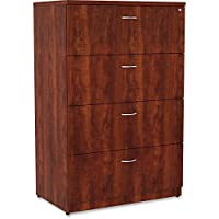 Lorell Essentials 4 Drawer Lateral File Cabinet in Cherry
