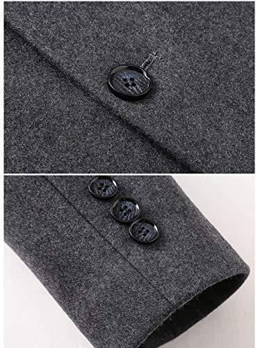La De De De Vintage Solapa La Outwear Coat De Manera De Larga PvvHEqw