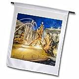 3dRose Danita Delimont - Fountains - Italy, Sicily, Syracuse. Twilight Piazza Archimede - 18 x 27 inch Garden Flag (fl_277647_2)