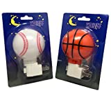 Lunamax Baseball and Basketball Night Light Combo Pack For Sale