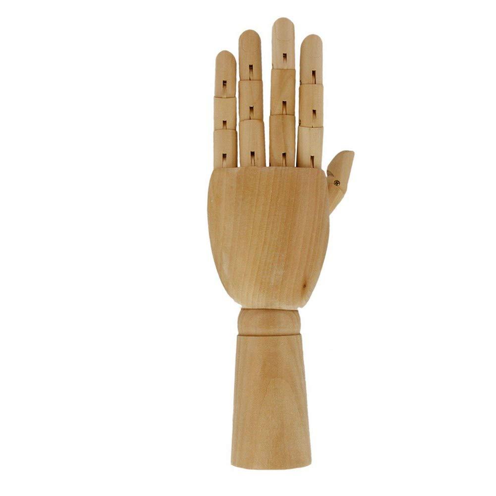 flexibel 7 inch Left Hand Wie abgebildet Gelenk-Hand Gelenke Kunst-Holz-Hand opposable Finger Skulptur Manikin Hand zum Zeichnen abgeschnitten Modell aus Holz Skizzieren