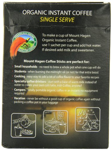 Mount Hagen Organic Instant Regular Coffee, 25-Count Single Serve packets (Pack of 4) by Mount Hagen (Image #2)