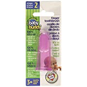 Baby Buddy Finger Toothbrush Stage 2 for Babies/Toddlers, Kids Love Them, Pink