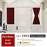 PONY DANCE Blackout Door Curtains - Thermal