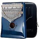 Moozica 17 Keys Kalimba Thumb Piano, Solid Mahogany