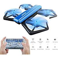 Mini RC Drone, Foldable Selfie Quadcopter Drone with WIFI FPV 720P HD Camera, APP Control, Headless Mode, G-sensor Mode, Altitude Hold RC Quadcopter, by MKLOT - Blue