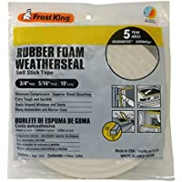 Frost King R534WH Sponge Rubber Foam Tape 5/16-Inch, White by Frost King