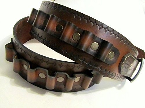 Leather Bullet Belt by San Filippo Leather