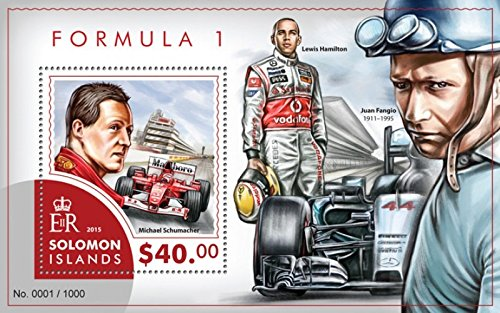 Solomon Islands - 2015 Formula 1 - Stamp Souvenir Sheet - 19M-832